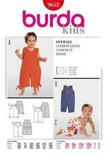 BURDA SEWING PATTERN KIDS JUMPSUIT OVERALLS SIZES 6 MONTHS - 3 YEARS 9652