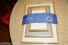 DESIGN BY CONRAN Stacking Contrast Trays made with leather 'RARE' NWT MSRP $185
