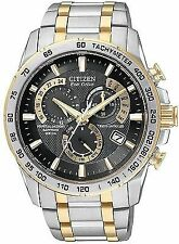 Citizen Men's Eco Drive Two-Tone Perpetual Calendar Chronograph Watch AT4004-52E