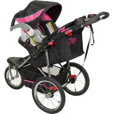 Jogging Stroller Baby Trend Girls Jogger Toddler Lightweight Swivel Wheel New