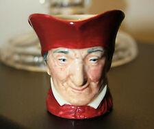 """Royal Doulton """"CARDINALE Wolsley"""" in miniatura personaggio Brocca c.1930's 5.5 cm di altezza"""