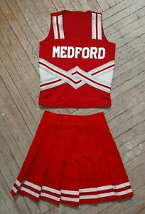 Real High School Cheerleading White Red Silver Medford Cardinals Cheer Uniform