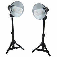 Kit 2x PS01 400W Studioset with Backlight Support Stand,Reflector Spiral Energy