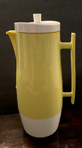 VNTG Retro Aladdin Beverage Butler #4450 One Qt Size Vacuum Pitcher 60's Yellow