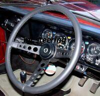 Pour Alfa Romeo Gulia Gt 63-66 Véritable Noir Housse Volant Cuir