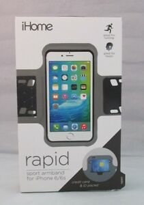 NEW iHome Rapid Sport Armband for iPhone 6 6s Credit Card Pocket Case Thin Black