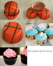 100pcs Orange Basketball Cupcake liners baking paper cup muffin case standard