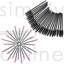 Disposable Eyelash Mini Brush Mascara Wands Applicator Spoolie Black & Pink