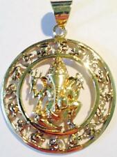 Ganesh Ethnic Pendant Brass Boho Hippy Indian Costume Jewellery Fair Trade Om