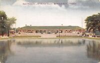 Chicago Illinois~Garfield Park~New Pavilion Reflects Water Court~1914 VO Hammon