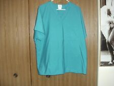 unisex size (large) fundamentals green short sleeve scrub top