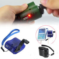 Cell Phone Emergency Charger USB Crank Hand Manual Dynamo For MP4 MP3 Mobile PDA