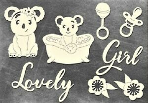 Puffy Fluffy Girl chipboard elements for crafts cardmaking scrapbooking