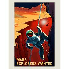 NASA POSTER SPACE EXPLORATION JOB ADVERT EXPLORERS ART PRINT HP3817