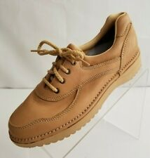RocSports By Rockport Oxfords Apron Toe Womens Tan Leather Lace Up Shoes Sz 8.5M