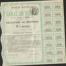 Société Nouvelle du CANAL DU VERDON (V)