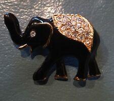 Animal Elephant Jewelry Pin Brooch Crystal Rhinestone