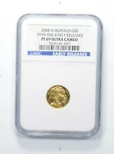 PF69 UCAM 2008-W $5.00 1/10 Oz. Gold American Buffalo Early Releases - NGC *8212