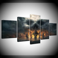 Pirates of the Caribbean Movie Canvas Prints Painting Poster Wall Art 5 Pieces