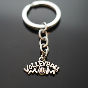 Volleyball Mom - Key Chain Silver Pendant Keychain Coach Teacher Player Gift