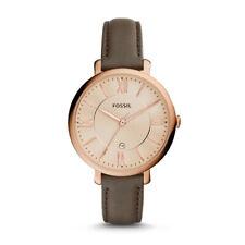 FOSSIL Uhr Damen Jacqueline ES3707 Edelstahl rosegold Leder braun 3 ATM Neu