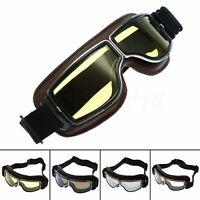 Steampunk Motocross Helmet Goggles Anti-UV Glasses for Motorcycle ATV Cafe Racer