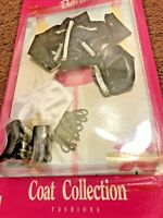 Barbie Coat Collection Fashions Black Mattel