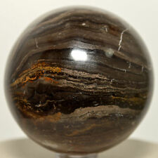 """2.1"""" Peruvian Stromatolite Sphere Polished Natural Crystal Mineral Fossil Stone"""
