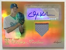 Clayton Kershaw 2009 Topps Tribute Rookie Autograph Relics GOLD RC Auto SP#4 /25