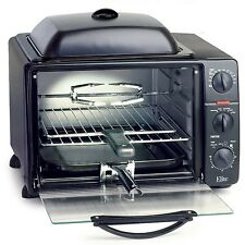 Elite Pro 23-Liter Toaster Oven with Rotisserie & Grill/Griddle Top with ... New