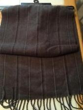 "NWT Dockers Black/Grey Striped Men's Winter Scarf with fringe 12"" X 52"""