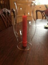 """8 3/4"""" Hurricane Candle Holder Clear Hourglass Shade or Center Piece Holder"""