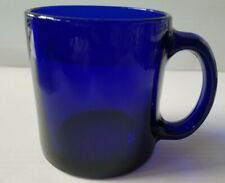 New Cobalt Blue Glass Coffee Cup Mug 13 oz Made In USA  not painted