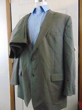 Jos A Bank Gray Pinstripes Wool 2 Pc Suit Sz 50XL Flat Front Pants 45 W X 31 L
