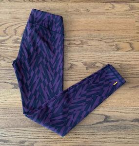 Lucy Running Athletic Tennis Yoga Leggings Pants Women's Size S Black/Purple