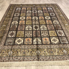 Yilong 8'x10' Oriental Hand Knotted Silk Carpet Interior Handmade Area Rug 223B
