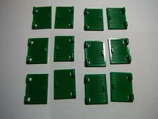 LEGO BULK LOT OF 12 GREEN 1X2X3 WINDOW SHUTTER WITH HINGES #60080