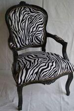Paire de fauteuils de style Louis XV zébré bois noir
