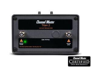 Channel Master Titan 2 High Gain Preamplifier TV Antenna Amplifier CM-7777v3