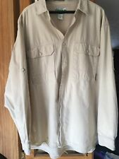 ExOfficio BuzzOff Insect Shield Long Sleeve Vented Shirt XXL tan