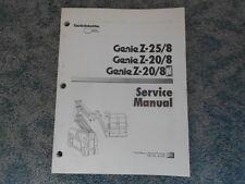 1998 GENIE Z-25/8 Z-20/8 Z-20/8N PLATFORM MAN LIFT SERVICE MANUAL 41314