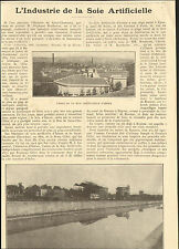42 IZIEUX L'INDUSTRIE DE LA SOIE ARTIFICIELLE ARTICLE PRESSE 1927