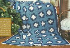 *Danish Blue Afghan crochet PATTERN INSTRUCTIONS