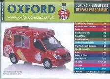OXFORD DIECAST JUNE-SEPTEMBER 2013 RELEASE PROGRAMME CATALOGUE
