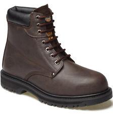 HOMME DICKIES Cleveland Bottes de sécurité Taille UK 7 travail cuir brun FA23200