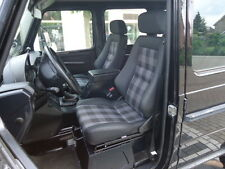 2 Recaro Specialist S schwarz Leder Mercedes G Klasse Puch original Stoff Sitze