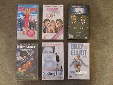 Family Films Videos x 6 - Bridget Jones,Notting Hill,Batman,Elliot,Men Black etc