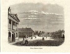 21 DIJON PLACE D ARMES IMAGE 1855 PRINT
