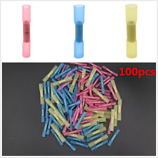 100pcs 22-10awg Heat Shrink Butt Connectors Electrical Wire Crimp Terminals Kit