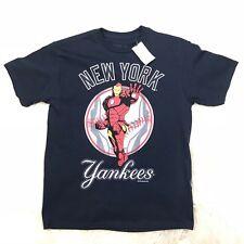 "MARVEL NEW YORK YANKEES IRON MAN BOYS SHIRT ""NWT"" MLB TONY STARK"